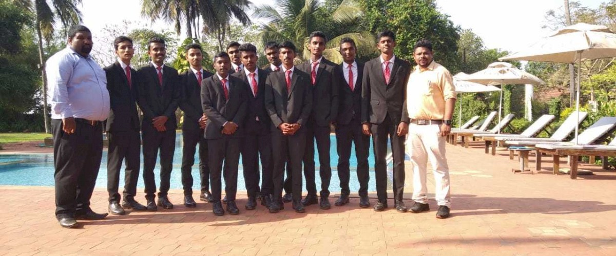 Hotel Management at Meredian College Mangalore. Industrial visit at Summar Sand Beach Resort Ullal Mangalore